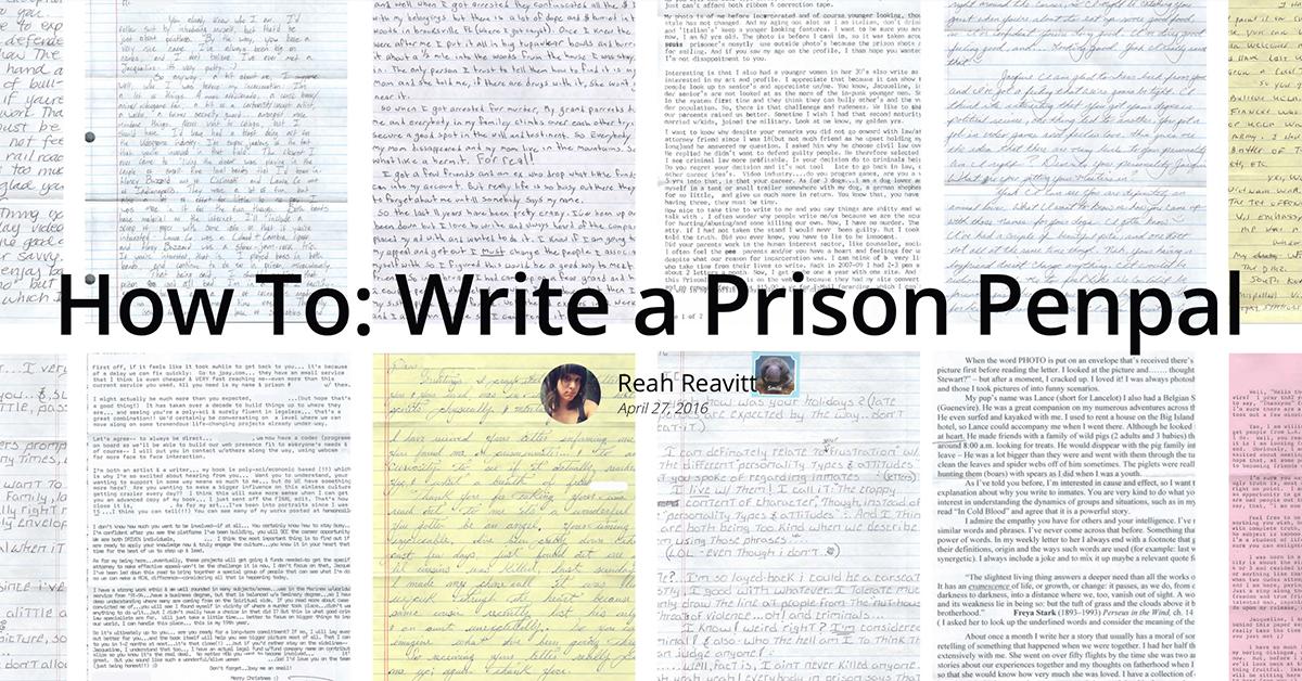 Write a prison pen pal